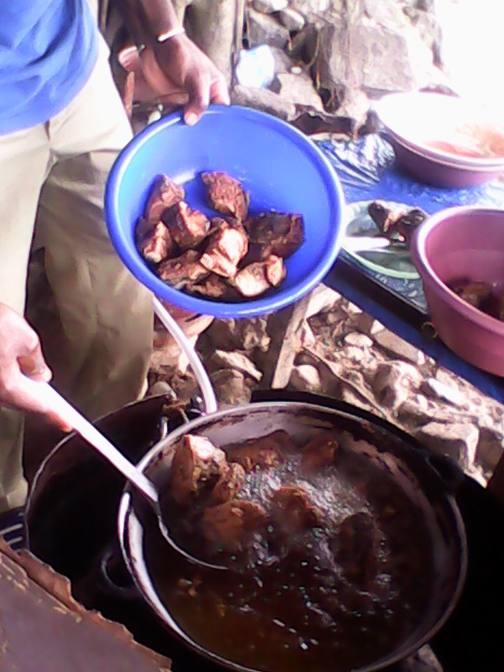 Photos de Babeth: Les poissons en pleine cuisson