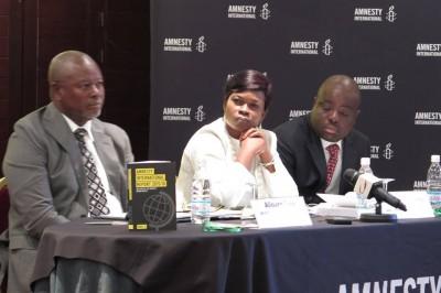 Lancement régional du rapport annuel d'Amnesty International. Crédit photos: Vendome A.