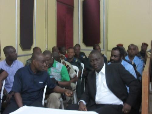 Tribunal militaire d'Abidjan, box des accusés